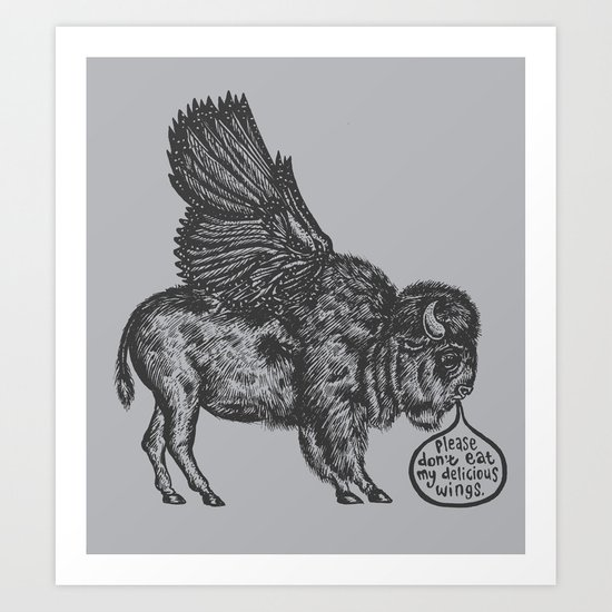 The Buffalo's Plea Art Print