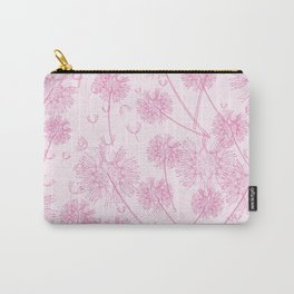 Dandelion Plants, Flower Heads - Pale Pink Carry-All Pouch