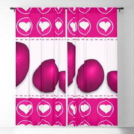 Love celebration easter hearts Blackout Curtain