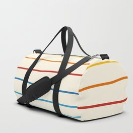 Abstract Retro Stripes #1 Duffle Bag