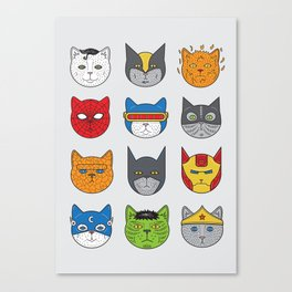 Super Cats Canvas Print