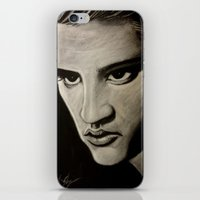 elvis iPhone & iPod Skins featuring ELVIS by John McGlynn