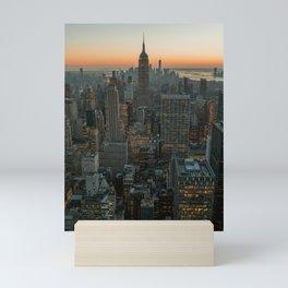 New York Skyline - Manhattan Night Mini Art Print