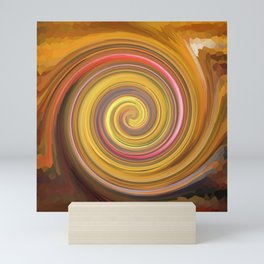 Swirls of digital paint Mini Art Print