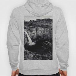 Hidden Waterfall Black and White Hoody