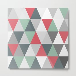 Rombi pink and light blue Metal Print