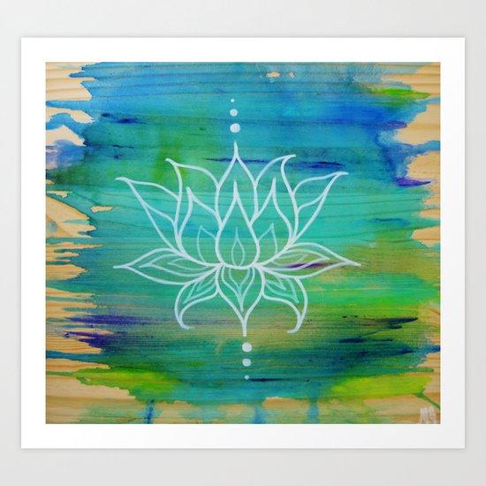 Lotus Love Art Print
