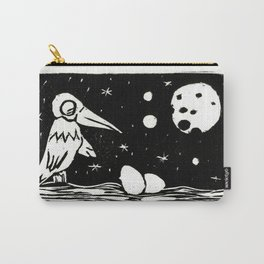 The Curious Case of the Bird in the Night Carry-All Pouch