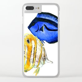 Coral Fish, tropical fish artwork Clear iPhone Case