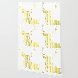 Geometric Yellow Stag Wallpaper