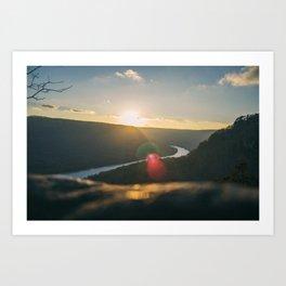 Signal Point Sunset Art Print