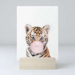 Bubble Gum Tiger Cub Mini Art Print