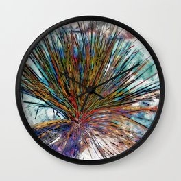 Painted Desert Yucca Plant Wall Clock
