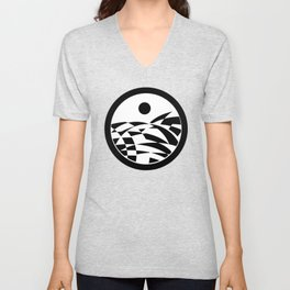 Sea in Black and White  Unisex V-Neck