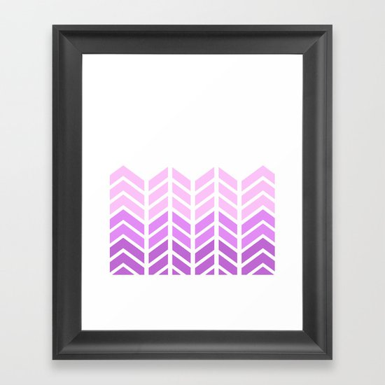 OMBRE LACE CHEVRON 2 Framed Art Print
