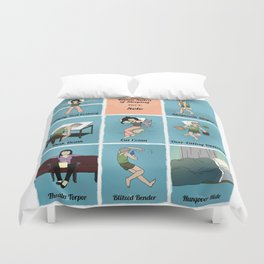 The Kama Sutra Of Sleep, Part 3: Solo Duvet Cover