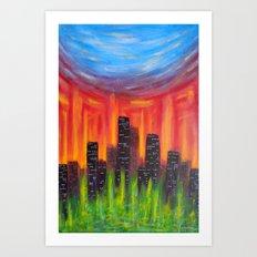 City Of Fire Art Print