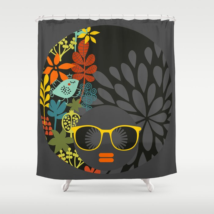 Afro Diva : Sophisticated Lady Gray Shower Curtain by bsavvy | Society6