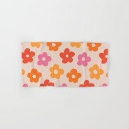 Retro 60s 70s Flowers Pattern #pattern #vintage Hand & Bath Towel