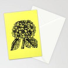 Yellow Hydrangea Stationery Cards