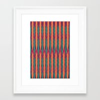 knitting Framed Art Prints featuring Knitting Flames by VessDSign