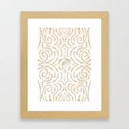 Beaded Pearls Framed Art Print