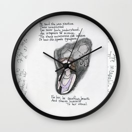His Nicotine Wall Clock