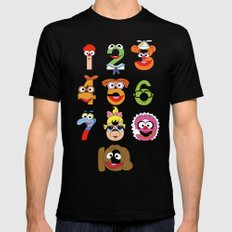 Muppet Babies Numbers X-LARGE Mens Fitted Tee Black