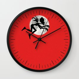 Friendly Zombie On The Go - Fly Wall Clock
