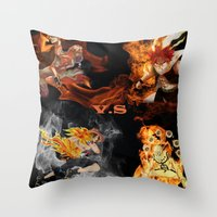 anime Throw Pillows featuring Anime VS Anime  by Pierre Venter