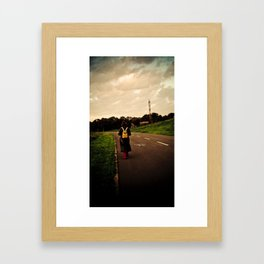 Let your feet take you there. Framed Art Print