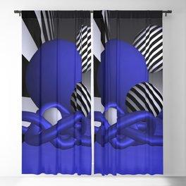 blue knots Blackout Curtain