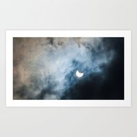 Cloudy Solar Eclipse March 2015 Art Print