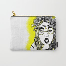 Floral Witch - Space themed girl Carry-All Pouch