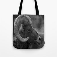 ram Tote Bags featuring Ram by Barbara Schultheis