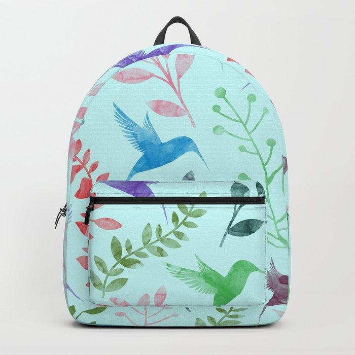 Watercolor Floral & Birds III Backpack