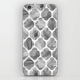 Black and White Tile Print iPhone Skin