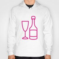 champagne Hoodies featuring ICNSRS - Champagne by Sillustration