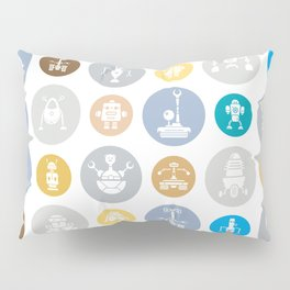 Robot Invasion Pillow Sham