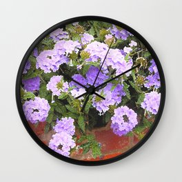 Vebena in Purple Wall Clock