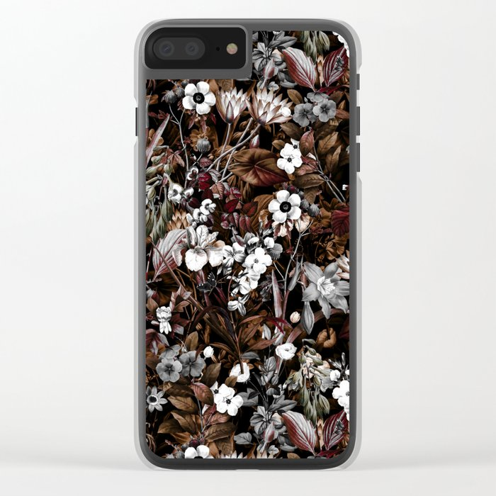 NIGHT GARDEN XXIV Clear iPhone Case