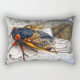 Red Eyed Cicada Rectangular Pillow