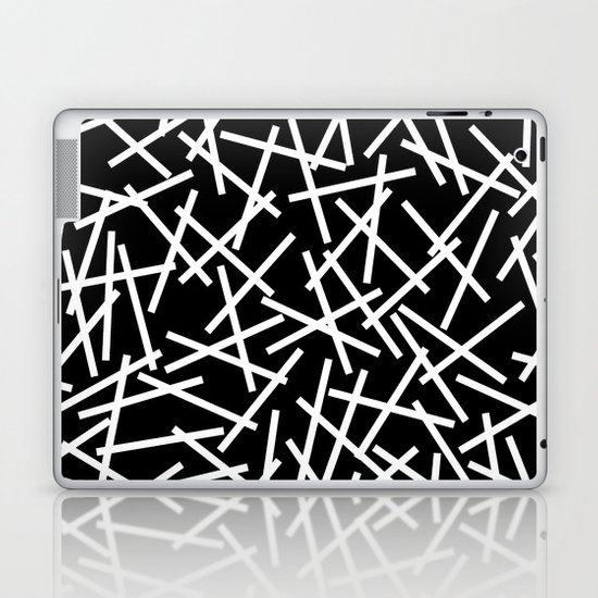 Kerplunk Black and White Laptop & iPad Skin