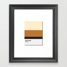 pantone corgi Framed Art Print