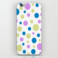 polka dot iPhone & iPod Skins featuring Polka Dot by Little Ladybird