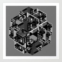 Cube Complex Art Print