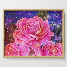 Roses with sparkles and purple infusion Serving Tray