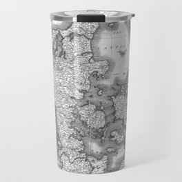 Vintage Map of Denmark (1801) BW Travel Mug