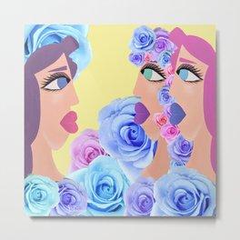 Rosa's Mirror Tale Metal Print