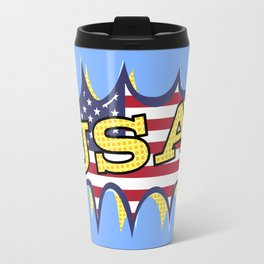 USA POW flag starburst Travel Mug